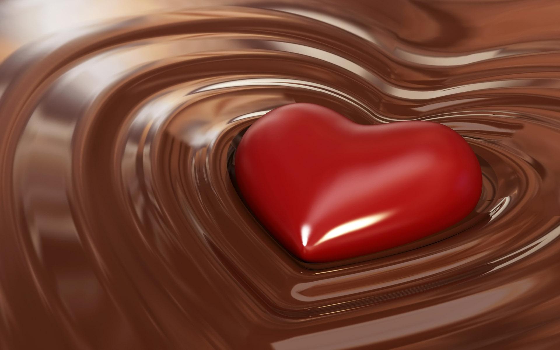 Un cuore nel cioccolato