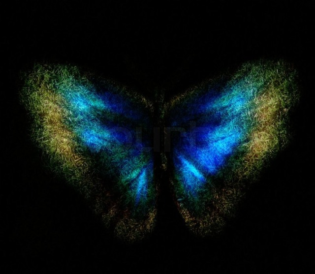 2820291-blue-abstract-butterfly-on-a-black-background